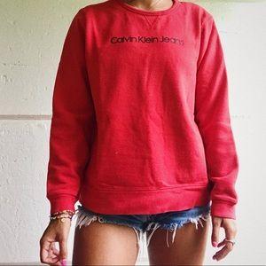 Calvin Klein red hoodie